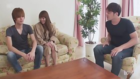 Uncensored gorgeous firm titted Japanese woman DPed