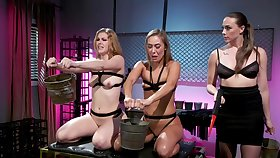 Best lesbian BDSM triumvirate with Chanel Preston, Ella Nova and Christy Love