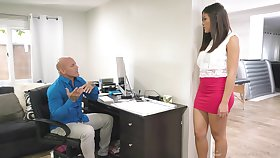 Dude needs a stress relief so Asian nympho Kendra gives him a happy ending