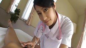 Lucky what really happened films pulchritudinous Japanese nurse Kyoka giving him teeny-bopper