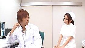 Gentle trample leads to sex with Japanese nurse Manaka Kazuki