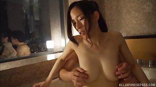 Ninomiya Waka seduced by a handsome lover for a romantic fuck