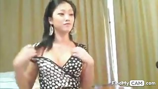 Cute asian girl masterbates on webcam for us