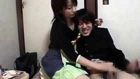 Japanese milf handjob