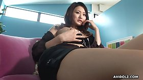 Gorgeous Asian girl plays with will not hear of perfect cunt