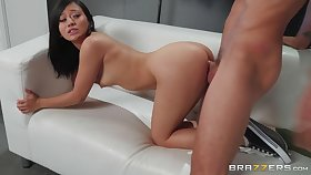 Jasmine Grey goes on her knees to learn ensure cum on her face